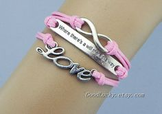 Love bracelet where there's a will there's by charmjewelrybracelet, $9.69