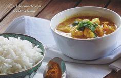 As especiarias introduzidas nesta receita potenciam o sabor, tornando este prato com camarão quente e muito agradável ao palato