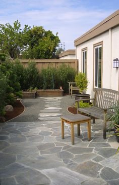 I love the stone on this patio.