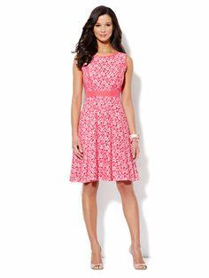 Chaya colorblock mixed-media sheath dress