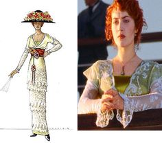 Titanic, Rose's lunch dress. Design by Deborah Lynn Scott