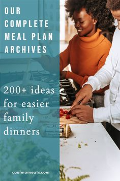 Each week, we put together a new meal plan to help you make family dinner planning -- and cooking! -- so much easier. Find more than 200 weekly meal plan recipes including ideas for one-pot dinners, Instant Pots and slow cookers, vegan and vegetarian ideas, feeding picky kids comfort foods, low-carb and keto, and more! CoolMomEats.com | #mealplanning #familydinner #dinnerideas #dinnerrecipes