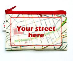 CUSTOM MAP WALLET   personalized coin purse printed by efratul, $19.00