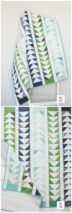 Triangle Quilt Pattern, Half Square Triangle Quilts, Pink Quilts, Scrappy Quilts, Modern Baby Quilts, Quilt Modern, Quilting Designs, Quilt Design, Flying Geese Quilt