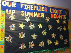 Summer Nature Preschool Bulletin Board Idea