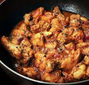 Chinese black pepper chicken