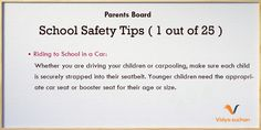 School Safety Tips (tips 1)