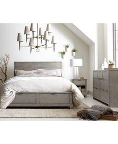 Tribeca Grey Storage California King Bed Furniture, 3-Pc. Set (Bed, Dresser