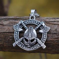 Handpicked pendants to pull the heartstrings of the inner wildness in all of us. Holder of personality! Skull Pendant, Brass Pendant, Sterling Silver Pendants, Mens Skull Jewelry, Broken Sword, Rune Stones, Viking Jewelry, Skull And Crossbones