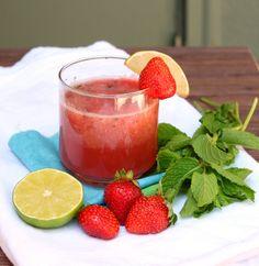 beauti food, cheer, strawberri mojito, special drink, mmm, strawberries, exot drink, food processor, finest beverag