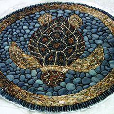 Turtles, Turtles Mosaics, Mosaics Turtles, Stones Mosaics, Sea Turtles ...