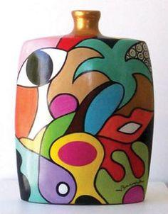 Valérie BRAND - Oui - Céramique - Acrylique sur terre cuite