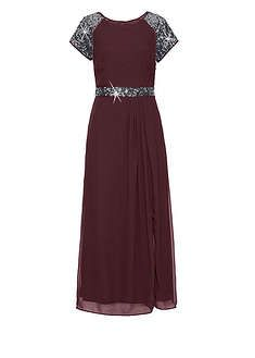 Dluga Sukienka Wieczorowa Z Szyfonu Z Cekinami Na Rekawach I W Talii Czesc Spodnicowa Ukladajaca Sie W Miekkie Plisy Black Dress Dresses Little Black Dress