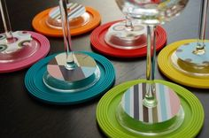 Modern wine glass markers for your next party