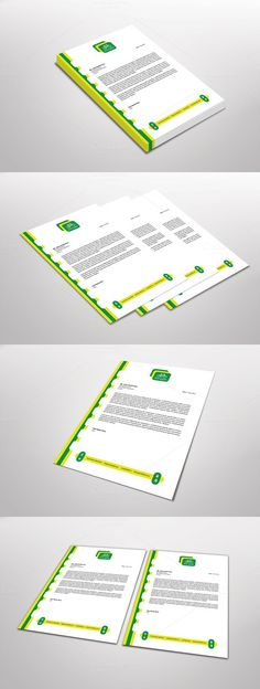 Eco Cycle Letterhead Template