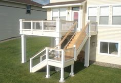 Second Story Deck Stairs Ideas, deck stair designs second floor ...
