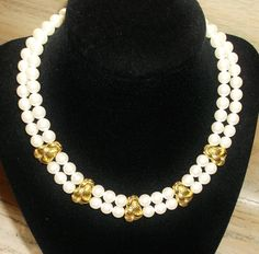 Vintage Choker Pearls and Gold Tone Glam by YoursOccasionally, $24.00
