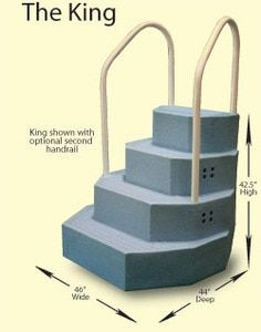Merlin King Aqua Staircase Blue Granite With Two Handrails In