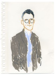 Frieze x Two Minute Portraits: Hans Ulrich Obrist [[MORE]] See the slideshow here. People Illustration, Illustration Sketches, Illustration Artists, Character Illustration, Watercolor Illustration, Crayon Drawings, Cute Drawings, Hans Ulrich Obrist, Notebook Sketches