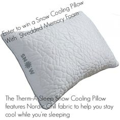 Looking for a Good Night's Sleep? #Win a Snow Cooling #Pillow With  Shredded MemoryFoam Fill ARV $90 @born2impress & @REM_Fit #giveaway Cooling Pillow, Hours In A Day, Best Pillow, Bed Mattress, Grab Bags, Pillow Design, Good Night Sleep, Memory Foam, Memories