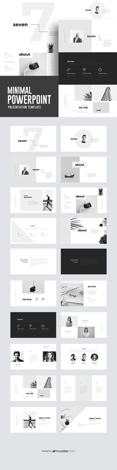 This is another good minimal PowerPoint layout. I like the grey scale and the use of square and lines. Layout Design, Broucher Design, Graphic Design Tips, Presentation Board Design, Presentation Folder, Powerpoint Design Templates, Booklet Design, Flyer Template, Grafik Design