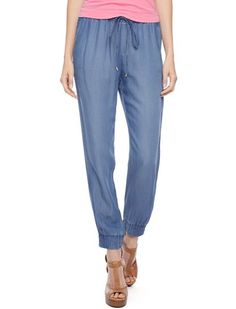 If sweatpants and jeans had a baby – and adorable baby – it would be these lightweight chambray pants from Splendid.