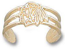 Chicago Blackhawks 14K Gold Blackhawk Head Logo Toe Ring
