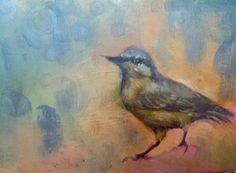 Bird study  6x8 Original Oil Painting on Panel by LauraSakowskiArt