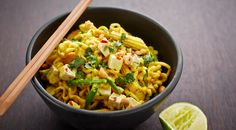 Thai stir-fry with chicken, coconut, cashews and spicy feta cheese cubes
