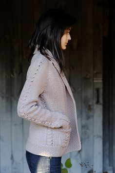 Ravelry: Solstice Cardigan pattern by Cecily Glowik MacDonald Love this jacket! Ravelry, The Cardigans, Knit Cardigan Pattern, Creation Couture, How To Purl Knit, Knit Or Crochet, Crochet Granny, Mode Outfits, Free Knitting