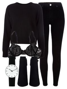 """""""Untitled #6740"""" by laurenmboot ❤ liked on Polyvore featuring River Island, T By Alexander Wang, Aerie and Rosendahl"""