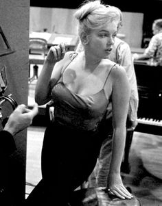 """Marilyn recording for Let's Make Love by John Bryson in 1960. """