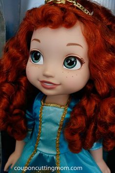 This Toddler Merida doll has the most AMAZING eyes I have ever seen.
