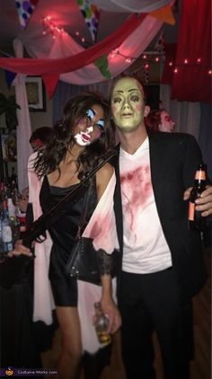Victoria: We reenacted the couple from the purge (without actually purging) haha. Our scare level was at an all time high everywhere we went. Photo 2 of 3.