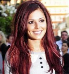 Red hair for olive skin. Cheryl Cole