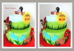 krteček v dortu - Hledat Googlem Birthday Cake, Desserts, Food, Design, Tailgate Desserts, Deserts, Birthday Cakes, Essen, Postres