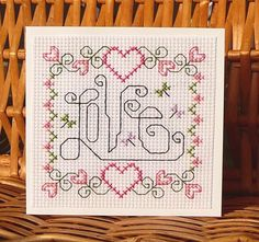 Love Card for Anniversary, Valentine, Wedding or Engagement, Cross Stitch Kit 41