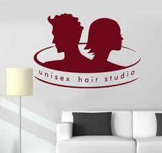 Vinyl Wall Decal Unisex Hair Studio Barbershop Stylist Salon Stickers (ig3385)