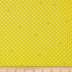 Throw Pillows: Cynthia Rowley Paintbox Pin Dot Citron $9.98 a yard
