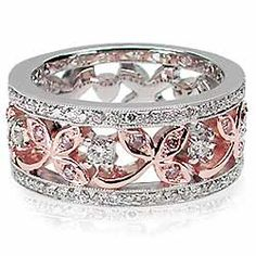 Pink and White Diamond Band