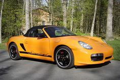 """Porsche 986/987/981 Boxster  (1996/2012)  Units Built: 500 for the 2008 GTS RS  Speed: 165 mph  The 1997 Boxer was inspired by the lines of the 550 Porsche Spyder of the early 1950s. For the next decade, the 986 Boxster continued to see many design and engine changes, including an """"S"""" model. In 2005, an all-new 987 model debuted, and in 2008 Porsche introduced two limited-edition Porsche Spyders as the GTS RS (Orange/Black) and the RS 60 Spyder (Silver/Red). In..."""