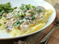 Delicious as it Looks: Slow Cooker Chicken Stroganoff from Scratch