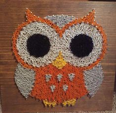 nail and string art patterns free Nail String Art, String Crafts, Owl Crafts, Diy Arts And Crafts, Pattern Art, Pattern Design, String Art Patterns, Thread Art, How To Make Diy