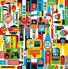 Ilustrações em vetores coloridos por Fernando Togni | Criatives | Blog Design, Inspirações, Tutoriais, Web Design