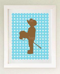 Cowboy art print for nursery or toddler room