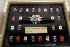 1984 Los Angeles Olympic Collector Pin Set Series 3 Framed 38 #Olympic #trading #pin