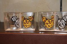 Mickey Animal Print Shot Glasses ~ Animal Kingdom