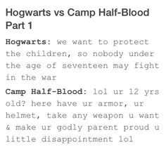 Hogwarts X Camp Half Blood