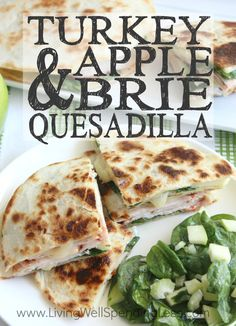 Turkey Apple & Brie Quesadillas Craving big flavor without all the effort? These simple-yet-delicious Turkey, Apple & Brie Quesadillas come together in just 10 minutes, with just 5 easy ingredients! The perfect dinner solution for the busiest of days! Apple Recipes, Turkey Recipes, Great Recipes, Favorite Recipes, Dinner Recipes, Sausage Recipes, Sandwiches, Brie Sandwich, Kitchens