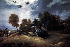 Caza de la garza con el archiduque Leopoldo Guillermo, 1654 - David Teniers el Joven